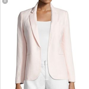Joie Light Dusty Pink Linen Cotton Blazer Size 2